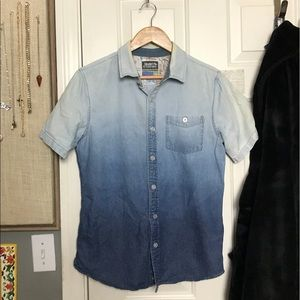 {S} Denim Blue Gradient Button-Up